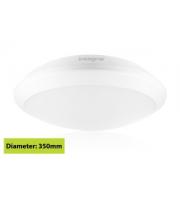 Integral White Tough Shell+ Bulkhead IP66 2500Lumens 4000K 350 X 103mm, Microwave Sensor (White)