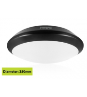 Integral Black Tough Shell+ Bulkhead IP66 1500Lumens 4000K Dimensions: 308 X H88mm