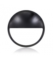 Integral Black Eyelid Cover For Black IP66 308x88mm Bulkhead (Black)