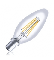 Integral Full Glass Candle B15 330LM 3.5W Eq. to 31W 2700K Dimmable 80CRI 300° Filament Clear (Clear)