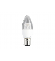 Integral CANDLE BULB B22 500LM 5.6W 5000K DIMMABLE 240 BEAM CLEAR