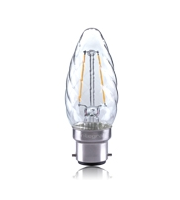 Integral Twisted 2W B22 LED Candle Lamp (Warm White)
