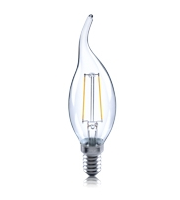 Integral 2W E14 Flame Tip Fliament Omni-Lamp (Warm White)