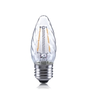Integral Twisted 2W E27 LED Candle Lamp (Warm White)