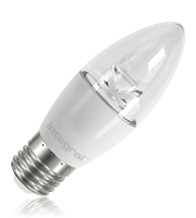 Integral Candle E27 470LM 5.5W Eq. to 40W 2700K Non-dimmable 80CRI 240° (Clear)