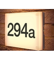 Integral Night Sign Wall Light IP54 6w 525lm 3000K Dark Grey C/w Dusk-dawn Sensor And Self Adhesive Numbers