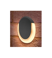 Integral Lunox Mini Wall Light IP54 8w 380lm 3000K Dark Grey