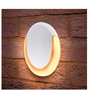 Integral Lunox Wall Light IP54 13w 700lm 3000K White