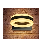 Integral Ciclo Wall Light IP54 11w 480lm 3000K Dark Grey, Outdoor
