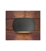 Integral Lux Stone Wall Light IP54 8.5w 320lm 3000K Dark Grey Outdoor