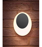 Integral Geolux Elliptical Wall Light IP65 13w 620lm 4000K (Dark Grey)