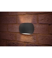 Integral Lux Stone Wall Light IP54 8.5w 335lm 4000K Dark Grey