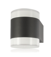 Integral Outdoor Decorative Wall Light Lumidisc IP54 350LM 8.4W 3000K Up/down Light Dark Grey