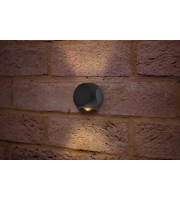 Integral Outdoor Decorative Wall Light Crosscube 230LM 6W 3000K 2 Way Light Dark Grey