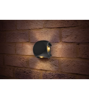 Integral Outdoor Decorative Wall Light Crosscube 360LM 8W 3000K 4 Way Light Dark Grey