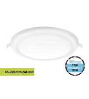 Integral Multi-fit Downlight 65-205MM Cutout 1530LM 18W 4000K Dimmable 85LM/W White