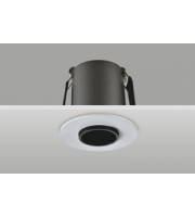 Integral Hi-brite Downlight 45MM Cutout 9W 550LM 63LM/W 4000K 30 Beam Dimmable Finish-a White Integral