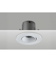 Integral Hi-brite Tiltable Downlight 60MM Cutout 9W 715LM 82LM/W 3000K 30 Beam Non-dimm Finish-f White Integral