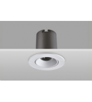 Integral Hi-brite Tiltable Downlight 60MM Cutout 9W 715LM 82LM/W 3000K 30 Beam Dimmable Finish-f White Integral