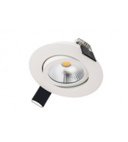 Integral Ultra Slim Tiltable Downlight 65MM Cutout 6.5W 650LM 100LM/W 3000K 36 Beam Dimmable White