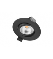 Integral Ultra Slim Tiltable Downlight 65MM Cutout 6.5W 650LM 100LM/W 3000K 36 Beam Dimmable Black