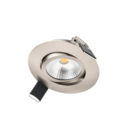 Integral Ultra Slim Tiltable Downlight 65MM Cutout 6.5W 650LM 100LM/W 3000K 36 Beam Dimmable Satin Nickel