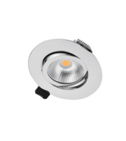 Integral Ultra Slim Tiltable Downlight 65MM Cutout 6.5W 650LM 100LM/W 3000K 36 Beam Dimmable Polished Chrome