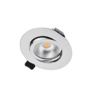Integral Ultra Slim Tiltable Downlight 65MM Cutout 6.5W 670LM 103LM/W 4000K 36 Beam Dimmable Polished Chrome