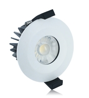 Integral 10W IP65 Low Profile Dimmable LED Downlight (Matt White)
