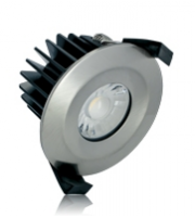 Integral 6W IP65 Low Profile Dimmable LED Downlight (Satin Nickel)