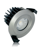 Integral 10W IP65 Low Profile Dimmable LED Downlight (Satin Nickel)