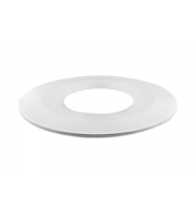 Integral Bezel for Low Profile Fire Rated Downlight (White)