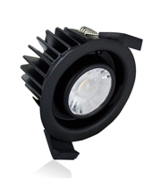 Integral Low-profile Fire Rated Downlight IP65 430LM 6W 3000K 38 Beam Dimmable no Bezel* (Black)