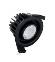 Integral Low-profile Fire Rated IP65 430LM 6W 3000K 38 Beam Non-dimm 72LM/W *no Bezel* (Black)