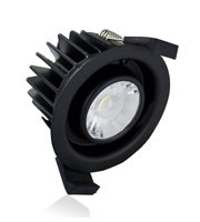 Integral Low-profile Fire Rated 70-75MM Cutout IP65 440LM 6W 4000K Dimmable (Black)