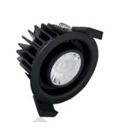 Integral Low-profile Fire Rated 70-75MM Cutout IP65 830LM 10W 3000K Dimmable (Black)