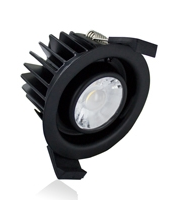 Integral Low-profile Fire Rated 70-75MM Cutout IP65 850LM 10W 4000K  (Black)