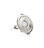 Integral Evofire Fire Rated Downlight 70-100MM Cut-out IP65 Satin Nickel Round Adapter