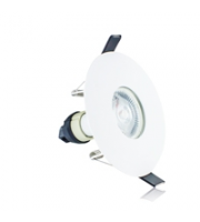 Integral Evofire Fire Rated Downlight 70-100MM Cutout IP65 White Round +GU10 Holder (White)