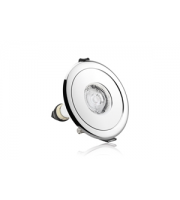 Integral Evofire Fire Rated Downlight 70-100MM Cut-out IP65 Polished Chrome Round Adapter