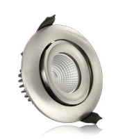 Integral 92mm 11W 3000K Fire Rated Tiltable LED Downlight (Satin Nickel)