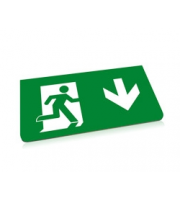 Integral Emergency Acc Legend Down Arrow For ILEMES030 26M Em Exit Sign