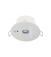 Integral 3W COMPACT EMERGENCY DOWNLIGHT 85MM CUT OUT 6000K WITH OPEN & CORRIDOR LEN INC