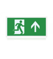 Integral 3.3W Non Maintained LED 'Up' Exit Sign Box (White)