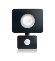 Integral Compact Tough Floodlight With Pir IP64 1800LM 20W 4000K 110B Non-dimm 90LM/W (Black)