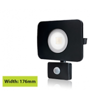 Integral Compact Tough Floodlight With Pir IP64 2700LM 30W 4000K 110B Non-dimm 90LM/W (Black)