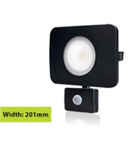Integral Compact Tough Floodlight With Pir IP64 4500LM 50W 4000K 110B Non-dimm 90LM/W (Black)