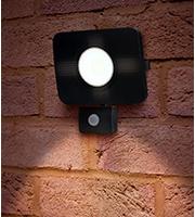 Integral Compact Tough Floodlight PIR IP64 4500LM 50W 4000K (Black)