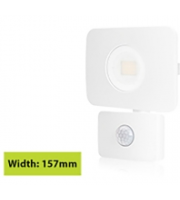 Integral Compact Tough Floodlight With Pir IP64 1800LM 20W 3000K 110B Non-dimm 90LM/W (White)