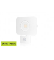 Integral Compact Tough Floodlight With Pir IP64 2700LM 30W 3000K 110B Non-dimm 90LM/W (White)